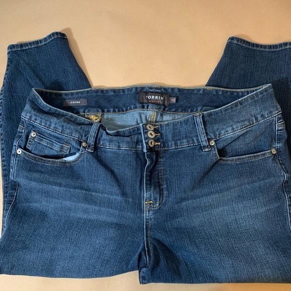 torrid Denim - Women's plus size cropped jeggings
